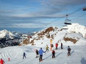plein de skieur